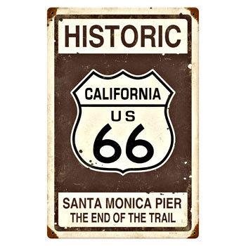 Historic California Santa Monica Pier The End Of The Trail