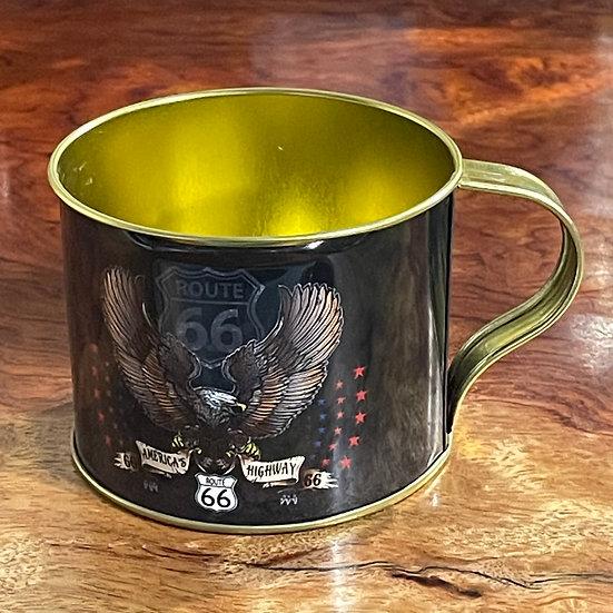 イーグル&ルート66サイン缶カップ