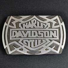 銘:James Manning Harley Davidson オーバーレイバックル