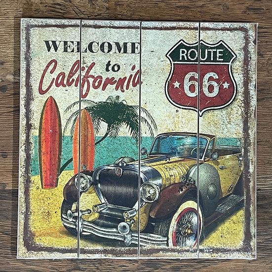 カリフォルニアの木製サインボード