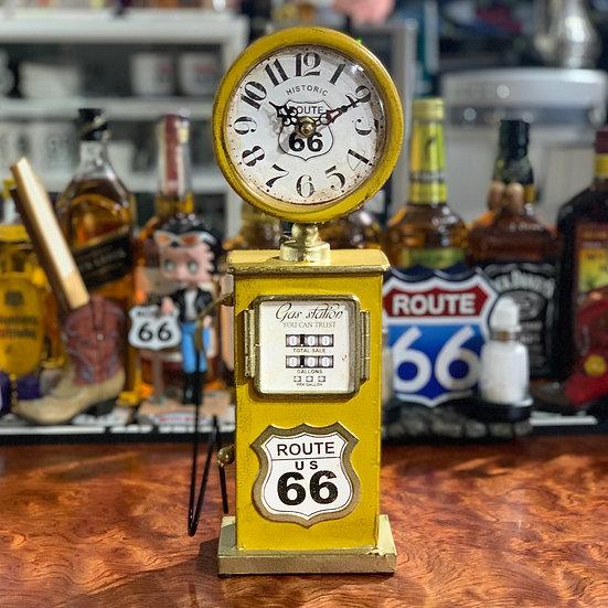 ルート66ガスポンプ置き時計