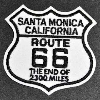 Santa Monica Route 66 End「刺繍エンブレム」