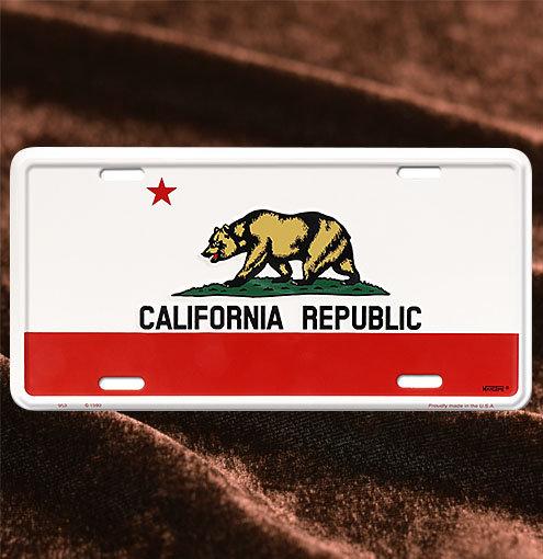 License Plate ─ California Republic