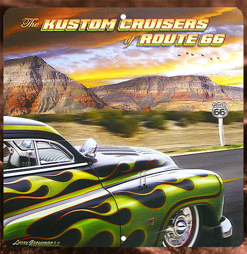 Tin Sign「Kustom Cruisers」