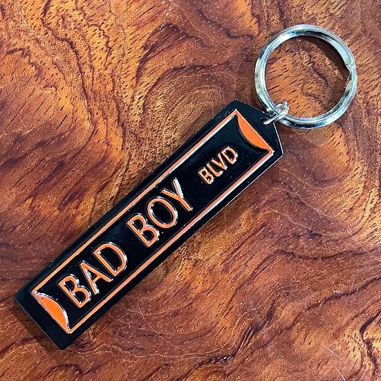 バイカーズストリートサインキーホルダー 【BAD BOY BLVD】