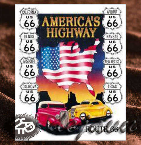 Tin Sign「America's Highway 8州」