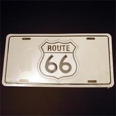 License Plate ─ ルート66サイン