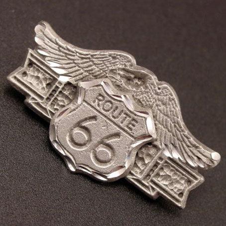 ルート66ロゴ&イーグルのピンバッジ