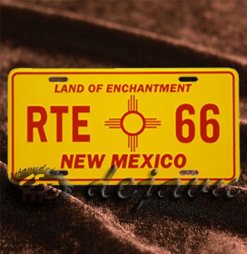 License Plate ─ RTE66 & New Mexico 州シンボル