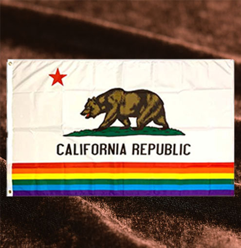 カリフォルニア州旗レインボータペストリー