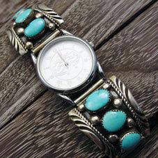 銘:Sindy Watchman 成功,安全,抑制,守護の力「ターコイズの腕時計」