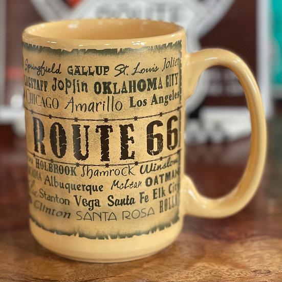 ルート66都市名入りマグカップ