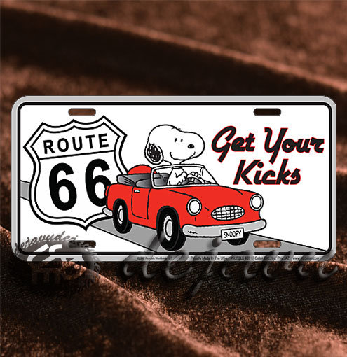 License Plate ─ Snoopy & Car