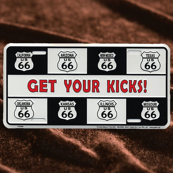 License Plate ─ Get Your Kiks! & 8州