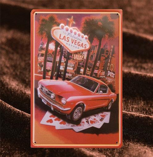 Tin Sign「Las Vegas」