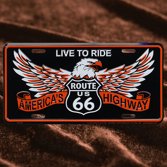 License Plate ─ イーグル & Live To Ride