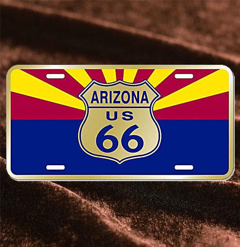 License Plate Arizona 州旗