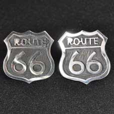 銘:James Manning Route 66サインボード型「オーバーレイ・ネガ・ピアス」
