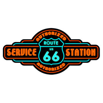 Route66 Service Station Authorized 型抜