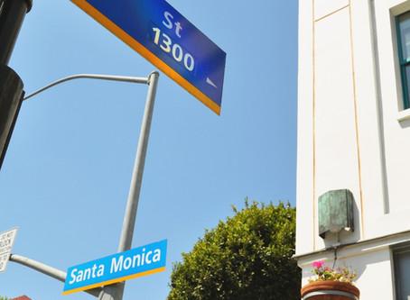 Santa Monica, CA ─ Santa Monica Blvd & 4th St