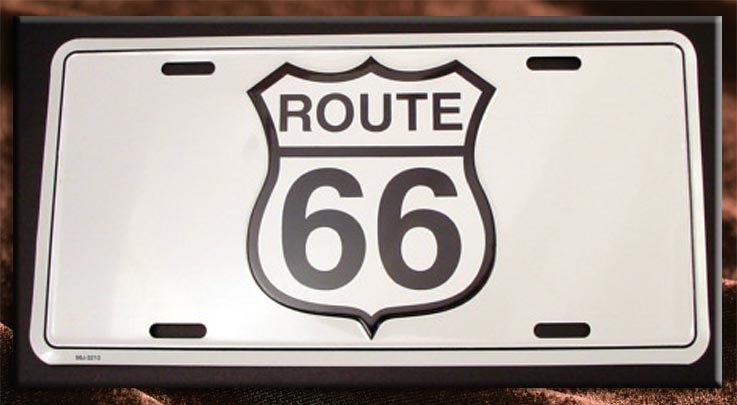 License Plate ─ ルート66サイン スタンプ