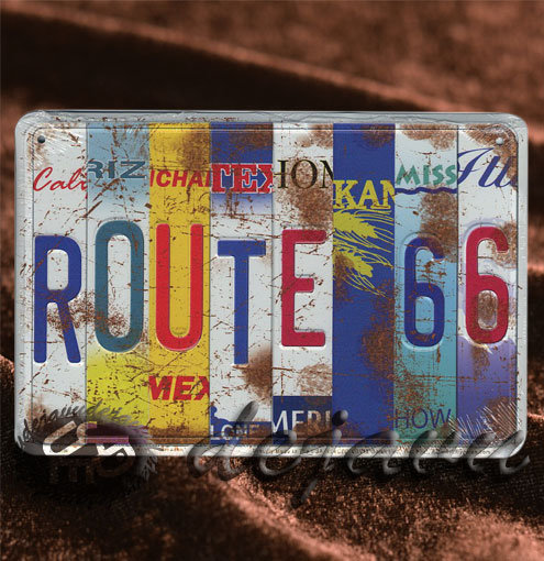 Plate ─ 各州ナンバープレート切抜