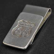 銘:James Manning Route 66ロゴ「オーバーレイマネークリップ」