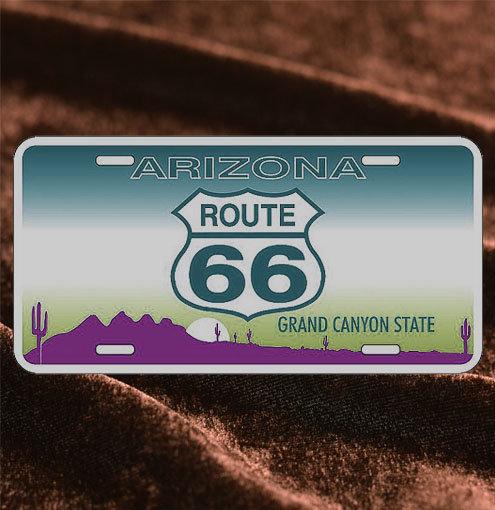 License Plate ─ Arizona Grand Canyon & Route66