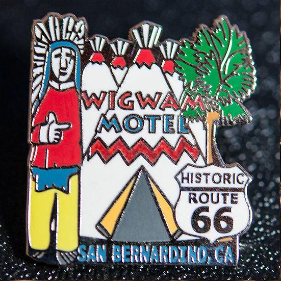 Wigwam Motel「オリジナル・ティピー&インディアン・ピンバッジ」