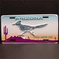 License Plate ─ Arizona ロードランナー