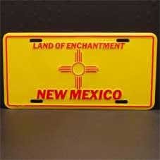 License Plate ─ New Mexico 州シンボル