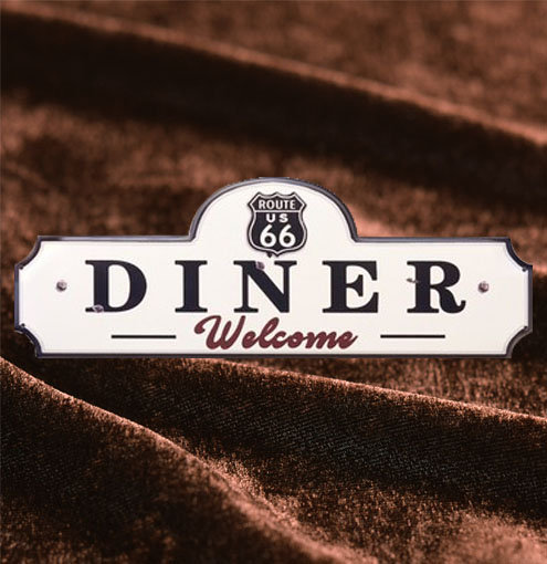 Tin Sign「Route66 DINER ダイカット」