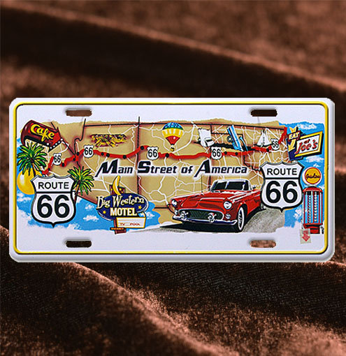 License Plate ─ Main Street of America Map