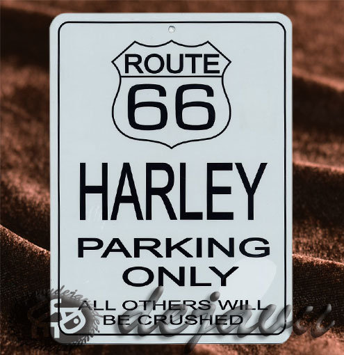 Plate ─ Harley Parking Only