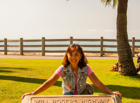 Santa Monica, CA ─ Will Rogers High Way Monument