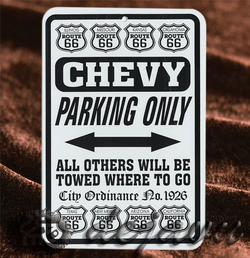 Plate ─ Chevy Parking Only