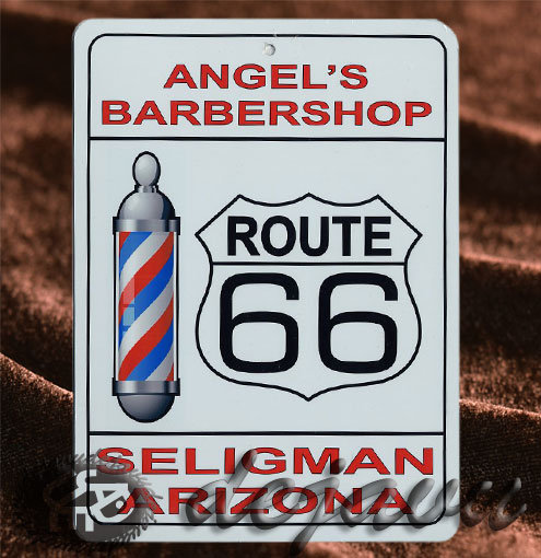 Plate ─ Angel's Barber Shop
