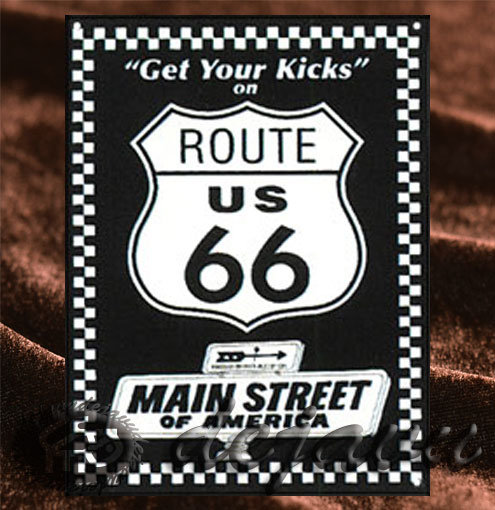 Tin Sign「Get Your Kicks on Route 66」