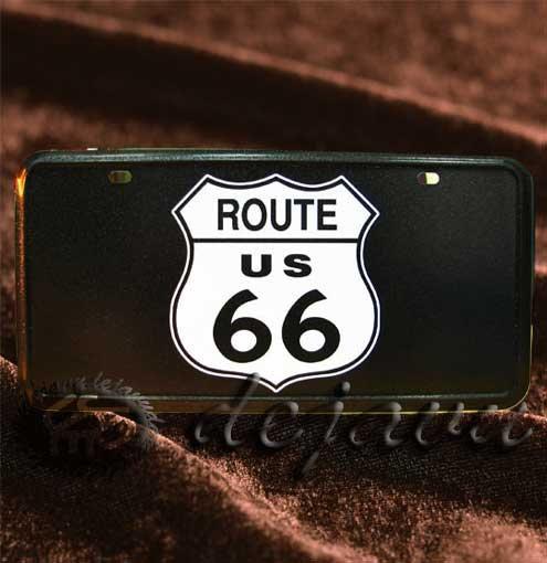 License Plate ─ ルート66サインブラック