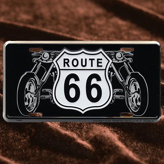 License Plate ─ ルート66サイン & バイク