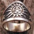 銘:Eddison Wadsworth 幸福の象徴,命の源を表す「サンフェイスと☆のオーバーレイリング(#20)」