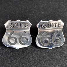 銘:James Manning Route 66サインボード型「オーバーレイ・ポジ・ピアス」