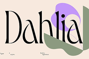 Type Tuesday: Dahlia is Romantic to the Core