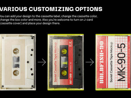 Soviet Cassette Tape Mockup Is Keeping Your Vintage Dreams Alive