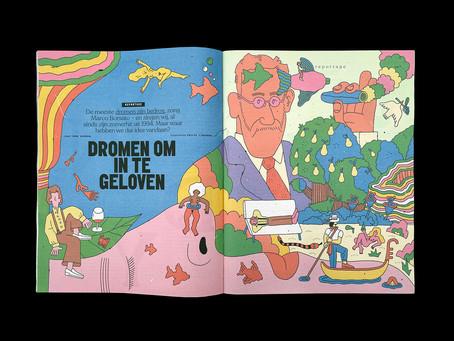 Philip Lindeman's Dreamy Illustrations For Volkskrant Magazine