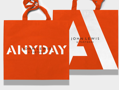 ANYDAY for John Lewis & Partners By Harry Pearce and Pentagram is Artfully Bold