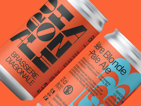 Independent Micro-Brewery Brasserie Diagonal Has Buzz-Worthy Branding