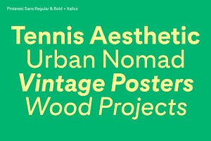 Pin This: Pinterest Sans Custom Typeface By Grilli Type