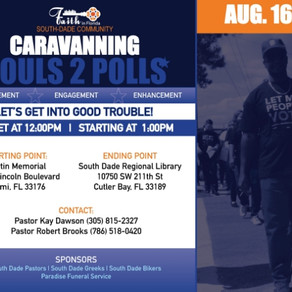 CARVANNING SOULS TO THE POLLS, AUG. 16TH