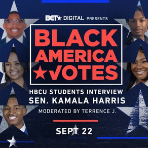"BET Digital Presents ""BlackAmerica Votes: HBCU Students Interview Sen. Kamala Harris"""
